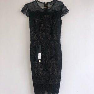 Bronx and Banco Venice Midi Dress in Black